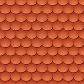 Naadloze terracota dakpan - patroon voor continu repliceren. — Stockvector