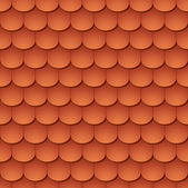 Seamless terracota roof tile - pattern for continuous replicate. — Vettoriale Stock
