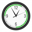 Wall clock on white background. — Stockvectorbeeld