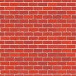 Seamless vector red brick wall. — Stock Vector