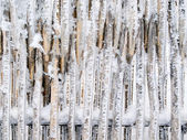 Snowbound fence. — Stock Photo