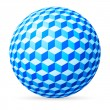 Spherical cubes. - Stockvectorbeeld