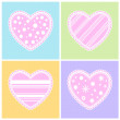 Stock Vector: Hearts set.
