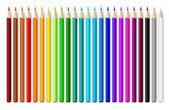 Conjunto de lápices de colores. — Vector de stock