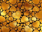 Golden hearts. — Stock Photo