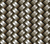 Woven metal seamless background. — Stock Vector
