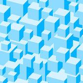 Bezešvé vzor modré krabice. — Stock vektor
