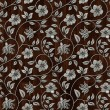 Seamless metall pattern on wooden background. - Stock Photo
