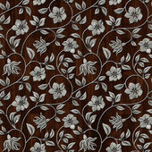 Seamless metall pattern on wooden background. — Stock Photo