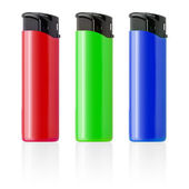 Piezoelectric lighters set isolated on white background. — Stock Photo