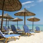 Empty sunny beach — Stock Photo