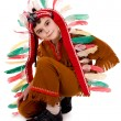 Stock Photo: Fun boy in costume of indian.