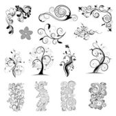 Květinové ornatedesign prvky — Stock vektor