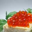 Stock Photo: Caviar snack