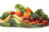 Grupo de vegetais e frutas — Foto Stock