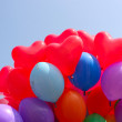 Colour balloons on blue sky — Stock Photo