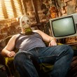 Man in a gas mask — Stock Photo #10451889