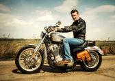 Motorcu — Stok fotoğraf
