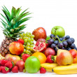 Fruit on a white background — Stock Photo