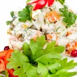 Russian traditional salad - Stock Photo