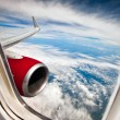 Airplane window - Stock Photo