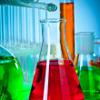 Stock Photo: test tubes with colorful liquids