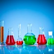 Test tubes with colorful liquids — Stock Photo #9334866