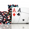 Chips and two aces — Stock Photo #9334907