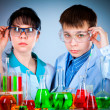 Stock Photo: Schoolteacher and student