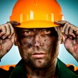 Portrait oil industry worker — Foto de Stock