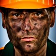 Portrait Öl Industrie worker — Stockfoto