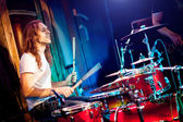 Playing drums — Stock Photo
