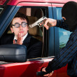 Robbery of the businessman - Stock Photo