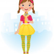 Lollipop girl — Stock Vector