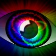 An iridescent eye — Stock Photo #8018046