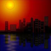 夜晚城市的灯光 — 图库照片