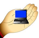 Die kleinen computer — Stockfoto