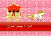 Koně s zlatý kočár — Stock fotografie