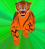 Symbol für das neue jahr-tiger — Stockfoto