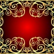 Background frame with gold(en) old pattern — Stockvectorbeeld