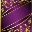 Background with gold(en) grape pattern and band — Stock Vector