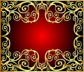 Background frame with gold(en) old pattern — Stockvektor