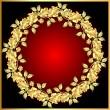 Background with gold(en) rose on circle — Vettoriale Stock #8621739
