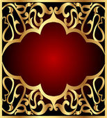 Background frame with gold(en) pattern — Vector de stock