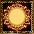 Background frame with circular gold(en) drawing - Stock Vector