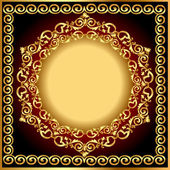 Background frame with circular gold(en) drawing — Stock Vector