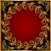 Background frame with gold(en) pattern — 图库矢量图片