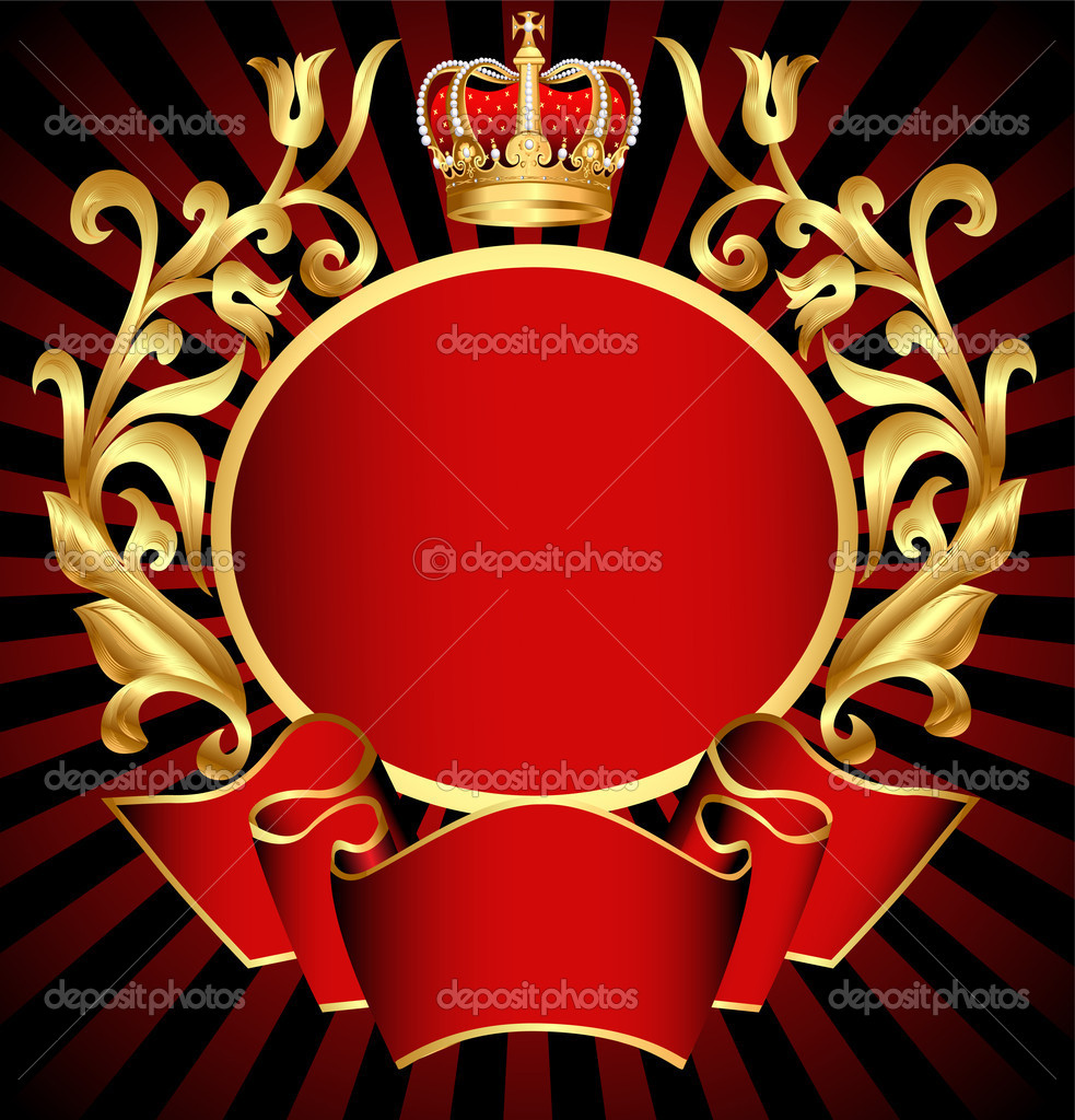 Gold crown background - photo#40
