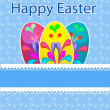 Template Easter greeting card - Stock Vector
