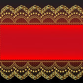 Red background with gold(en) pattern and net — Stockvector